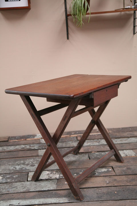 1940s Dark Wood Desk