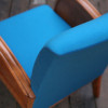 1940s Wooden Turquoise & Teal Armchair (3)