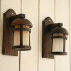 1940s Wooden Wall Lights (1)