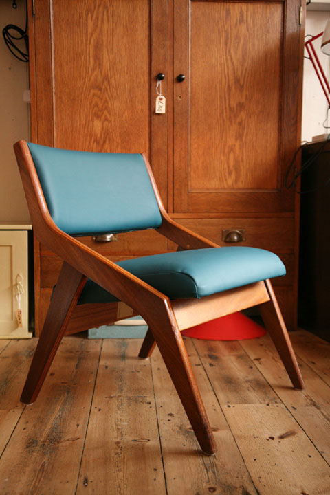 1950s Chair By Neil Morris Cream And Chrome
