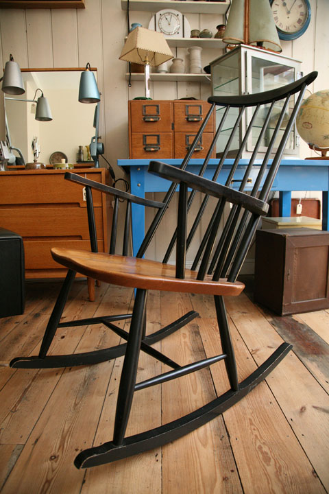 1950s Rocking Chair by Roland Rainer