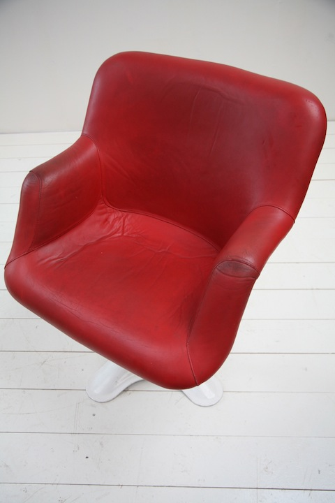 1960s Chair By Yrjo Kukkapura For Haimi Cream And Chrome