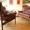 1960s Guy Rogers Leather Armchairs (3)