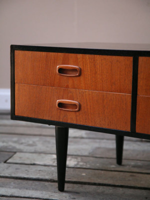 1960s Teak Chest of Drawers Coffee Table