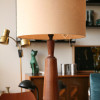 1960s Teak Table Lamp and Shade (1)