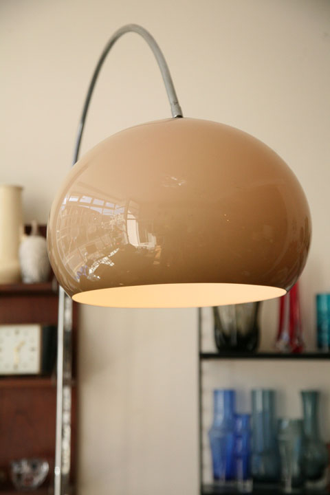 1970s Arco Floor Lamp Cream And Chrome