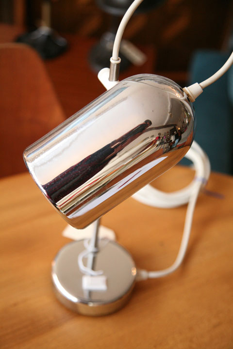 1970s Chrome Desk Lamp Cream And Chrome