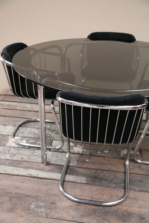 1970s Chrome Dining Chairs