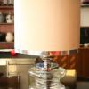 1970s Glass Chrome Table Lamp