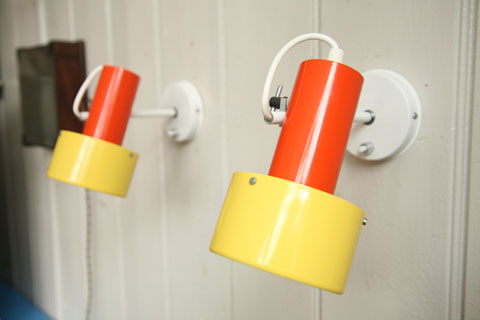 1970s wall lights by prova cream and chrome 1970s prova yellow orange wall lights 2 aloadofball Choice Image