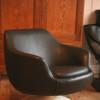 1970s Vinyl Swivel Chair (1)