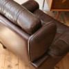 Brown leather Danish Armchair (2)