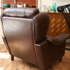 Brown leather Danish Armchair (3)