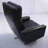 Danish Black Leather Swivel Chair (3)