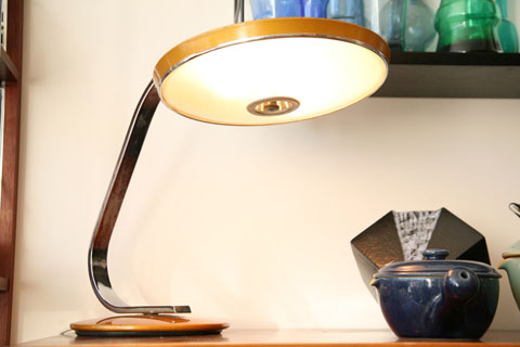 Desk Lamp By Fase Cream And Chrome