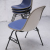 Herman Miller Blue Upholstered Stacking Chairs (1)