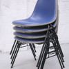 Herman Miller Blue Upholstered Stacking Chairs