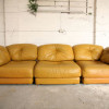 Large 1970s Leather Modular Sofa (1)