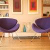 Pair of Purple Pierre Paulin Slice Chairs for Artifort (2)