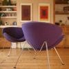 Pair of Purple Pierre Paulin Slice Chairs for Artifort (3)