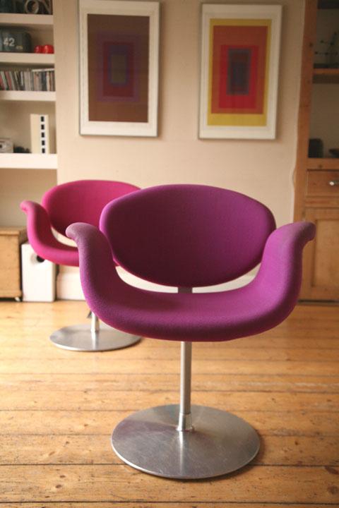 Little Tulip Chair By Pierre Paulin For Artifort Cream