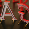 Red Metal Shop Letters (3)