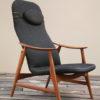 Vintage Modernist Teak Armchair (1)