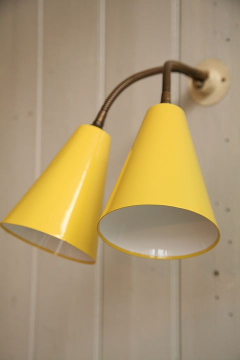 1950s wall light cream and chrome 1950s double wall light1 mozeypictures Images