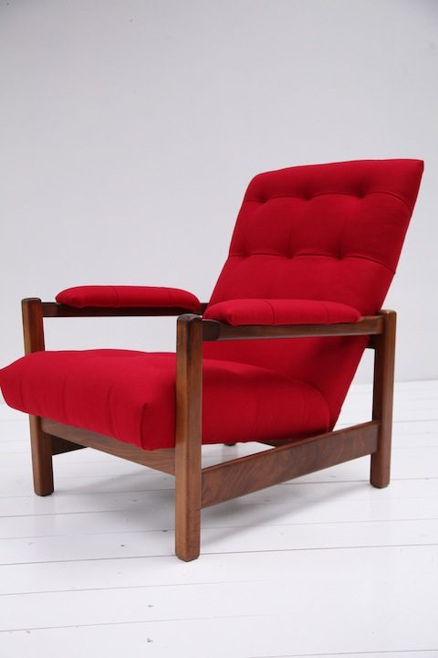 1970s Red Lounge Chair