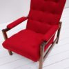 1970s Red Lounge Chair 1