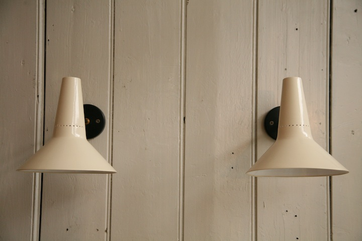 Pair of 1950s wall lights cream and chrome pair 1950s wall lights 3 mozeypictures Gallery
