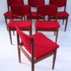 Set of 6 Teak Model 197 Dining Chairs by Finn Juhl for France and Sons Denmark