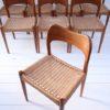 Set of 8 Teak Dining Chairs Designed by Arne Hovmand Olsen for Mogens Kold Denmark