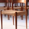 Set of 8 Teak Dining Chairs Designed by Arne Hovmand Olsen for Mogens Kold Denmark1