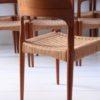 Set of 8 Teak Dining Chairs Designed by Arne Hovmand Olsen for Mogens Kold Denmark2