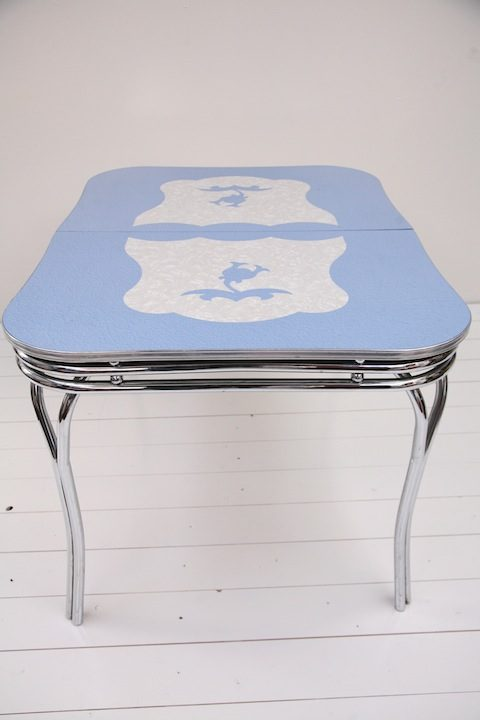 1950s Chrome & Formica Extending Dining Table