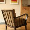 1950s Modernist Armchair Dark Wood (2)