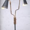 1950s black brass double floor lamp (2)