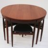 Dining Table and 4 Chairs by Hans Olsen for Frem Rojle Denmark1
