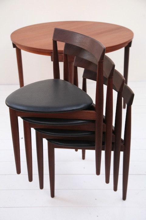 ... Dining Table And 4 Chairs By Hans Olsen For Frem Rojle Denmark4