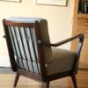 Grey 1950s Lounge Armchair (2)