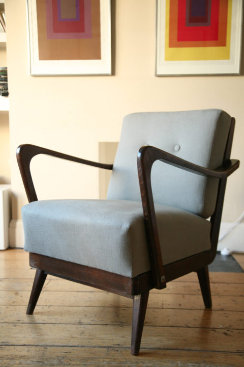 Grey 1950s Lounge Armchair