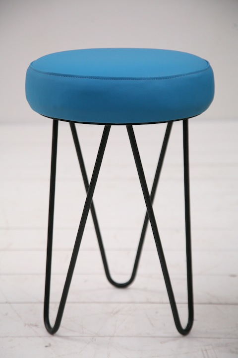 Industrial Stool Cream And Chrome