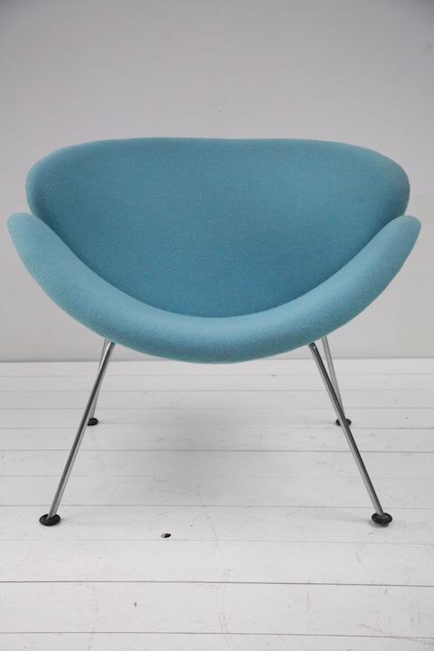Orange Slice Chair By Pierre Paulin Cream And Chrome