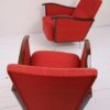 Pair of Red 1950s Lounge Chairs 4