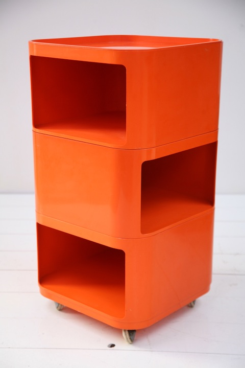 Storage Unit By Anna Castelli For Kartell Cream And Chrome
