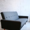 1950s Sofabed in Grey and Black Wool