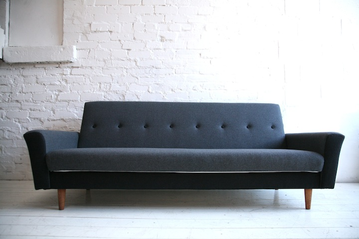 ... 1950s Sofabed In Grey And Black Wool2 ...