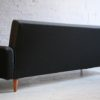 1950s Sofabed in Grey and Black Wool3
