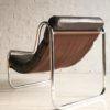 1970s Chrome & Leather Lounge Chair1